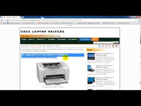 HP LaserJet Pro P1102 Driver For Windows