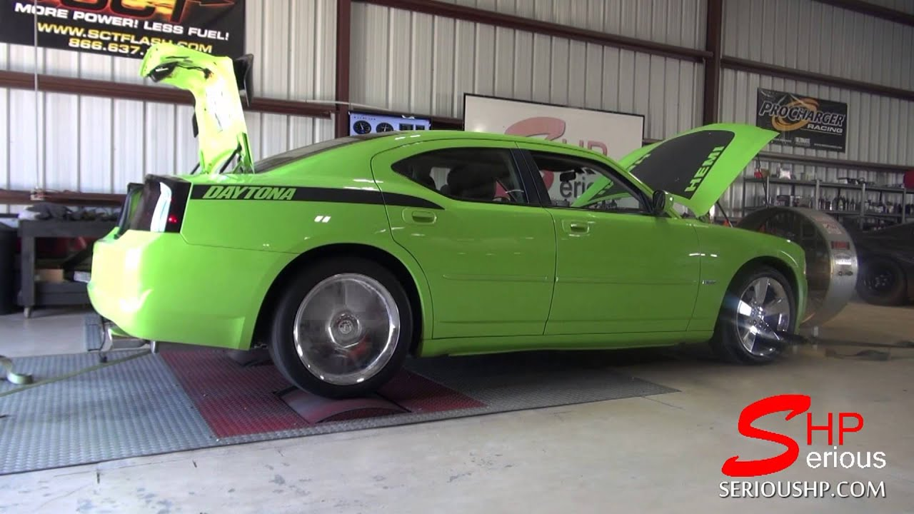 Lime Green Cammed Dodge Charger RT 57L CMR  Diablosport Tune