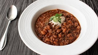 Beef, Bean & Beer Chili Recipe - How to Make Beef & Beer Chili