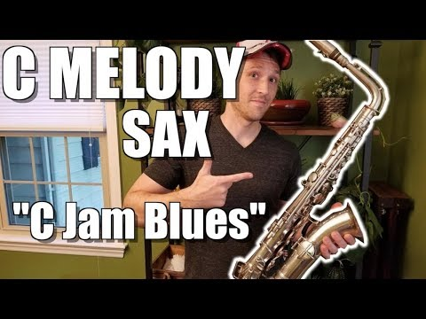 """C Jam Blues"" on C MELODY SAX!!"