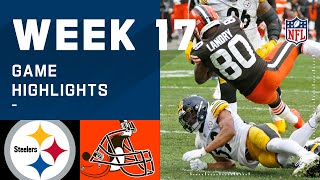 Steelers vs. Browns Week 17 Highlights | NFL 2020
