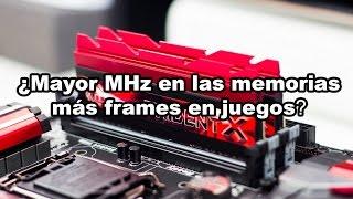 ¿Mayor velocidad de memoria RAM más frames?