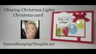 Glowing Christmas Lights Christmas card