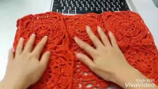 Repeat youtube video สาธิตการถักเสื้อต่อดอก : วิธีการถักปกเสื้อ