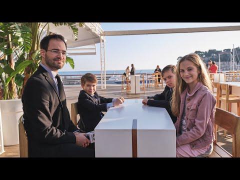 Interview with three chess kids: Fiorina Berezovsky, Egor and Boris Samorukov   Women GP - Monaco  