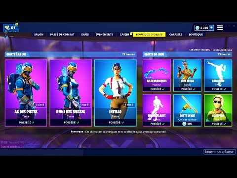 BOUTIQUE FORTNITE du 20 Fevrier 2019 ! ITEM SHOP February 20 2019