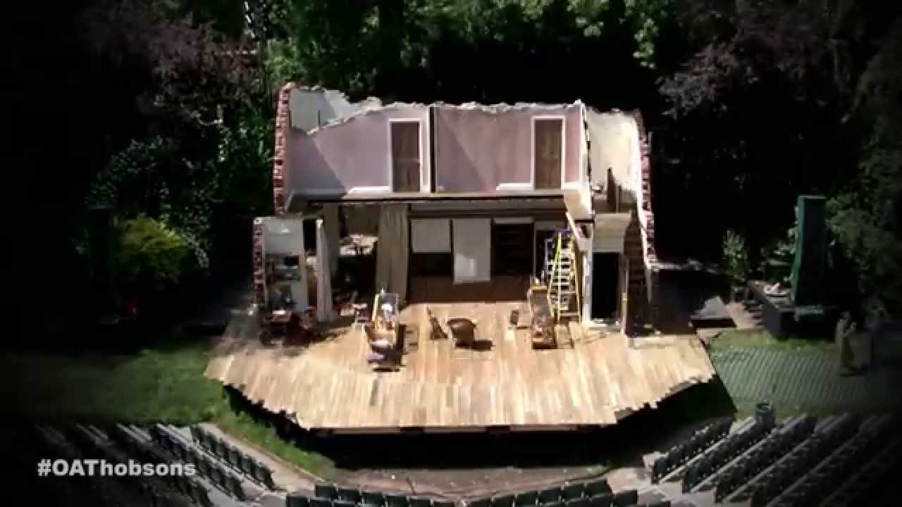 time lapse set construction for hobson u0027s choice at open air