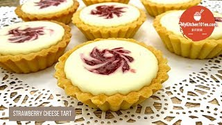 Chilled Strawberry Cheese Tart (with Homemade Strawberry Jam)  MyKitchen101en