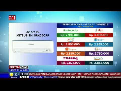 Perbandingan Harga E-Commerce: AC 1/2 PK Mitsubishi SRK05CRP