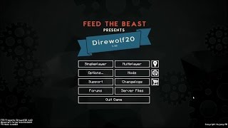 Direwolf 20 1.10 Let's Play Ep. 1: Getti...