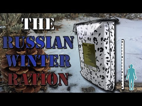 *No Music* EXTREME COLD || RUSSIAN WINTER RATION IRP-W (HAPPY NEW YEAR 2018!)
