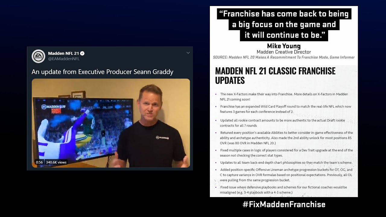 EA Responding To #FixMaddenFranchise Isn't Enough, We Need A COURSE OF ACTION! Please, Don't Let Up.