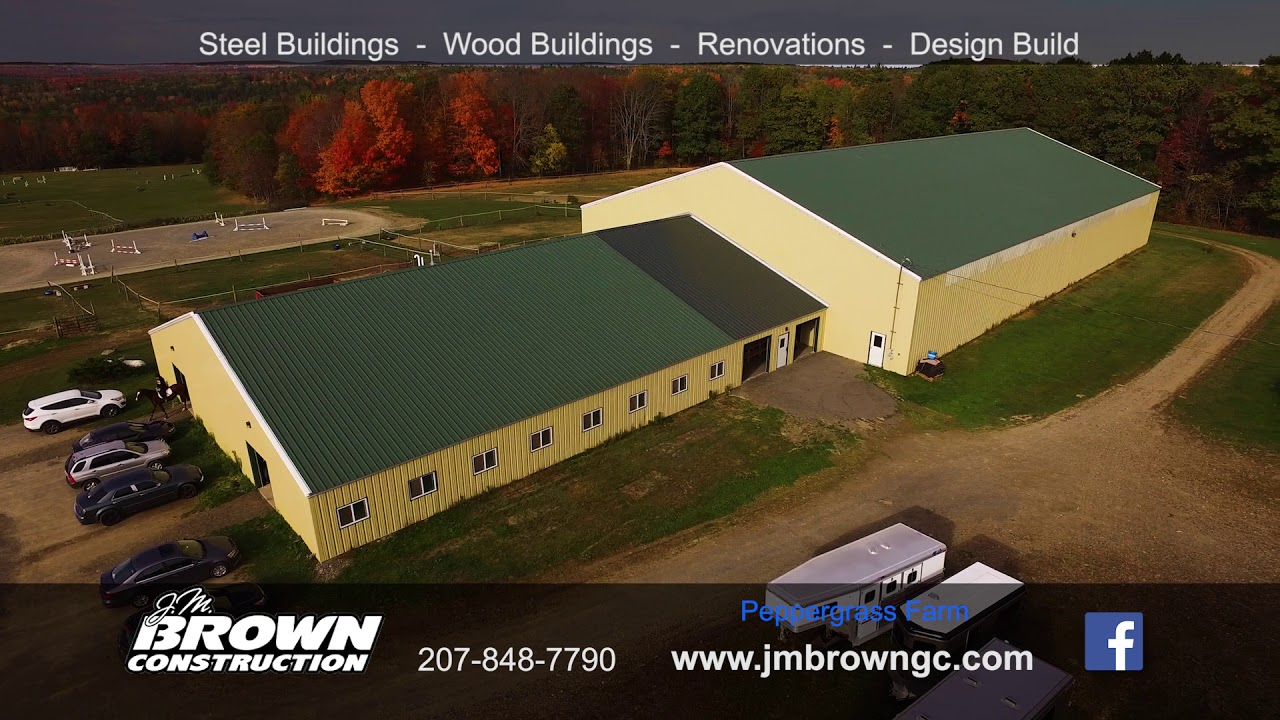 J M  Brown Construction, Commercial Buildings, Steel Buildings, Wood