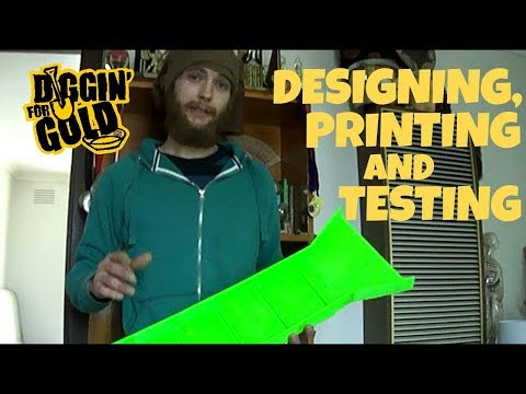 3D Printing a Sluice for Gold Prospecting
