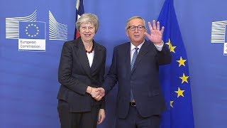 Theresa May arrives in Brussels ahead of Article 50 summit