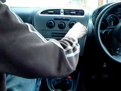 seat leon 1p radio removal youtube. Black Bedroom Furniture Sets. Home Design Ideas
