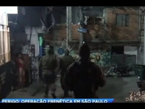 Polícia faz operação contra tráfico de drogas em SP