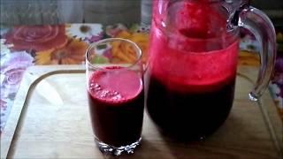 Невероятно чудесный  и полезный напиток из яблока,моркови,свеклы