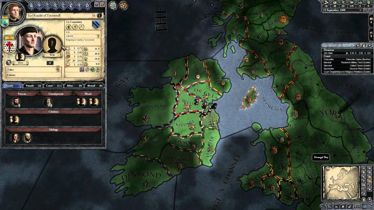 crusader kings 2 guide for newbies part 4 ireland beginnings