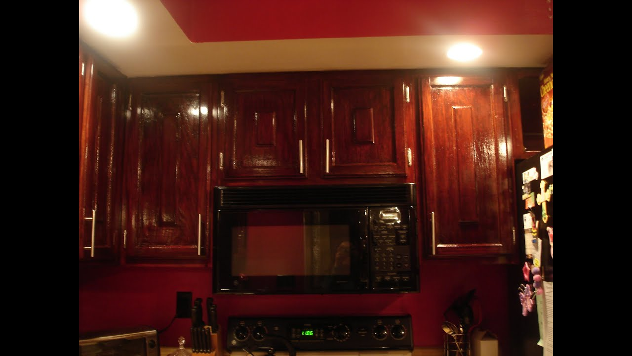 DIY How To Refinish Refinishing Wood Kitchen Cabinets YouTube - Kitchen cabinet refinish