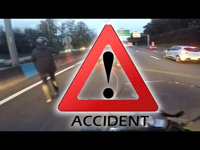 ACCIDENT 💥 !  IL LUI COUPE LA ROUTE ! A 70 KMH EN INTER-FILES