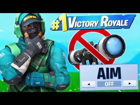 WINNING Without Aiming Challenge! Ft. LazarBeam