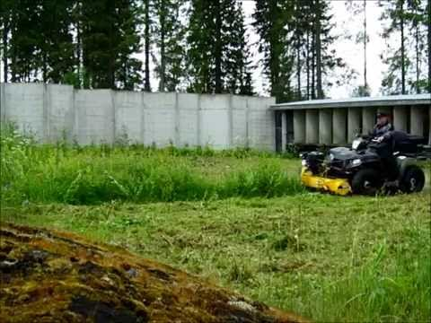 Rammy Flail Mower 120 Atv Pajukon Leikkaaminen. Willow Thicket Cutting.