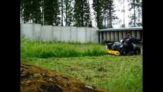 Rammy Flail Mower 120 ATV. Willow cutting. Pajukon leikkaus.