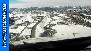 Cessna Citation Landing in the Colorado Rocky Mountains GoPro