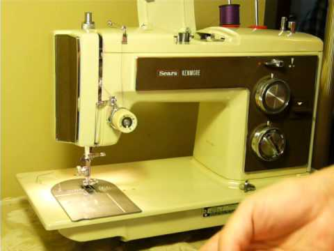 NIFTYTHRIFTYGIRL Vintage Kenmore Model 40 Sewing Machine With Adorable Kenmore Sewing Machine Accessories