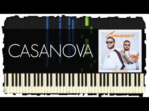 CASANOVA - BAUSA & Summer Cem | Piano Tutorial | Synthesia
