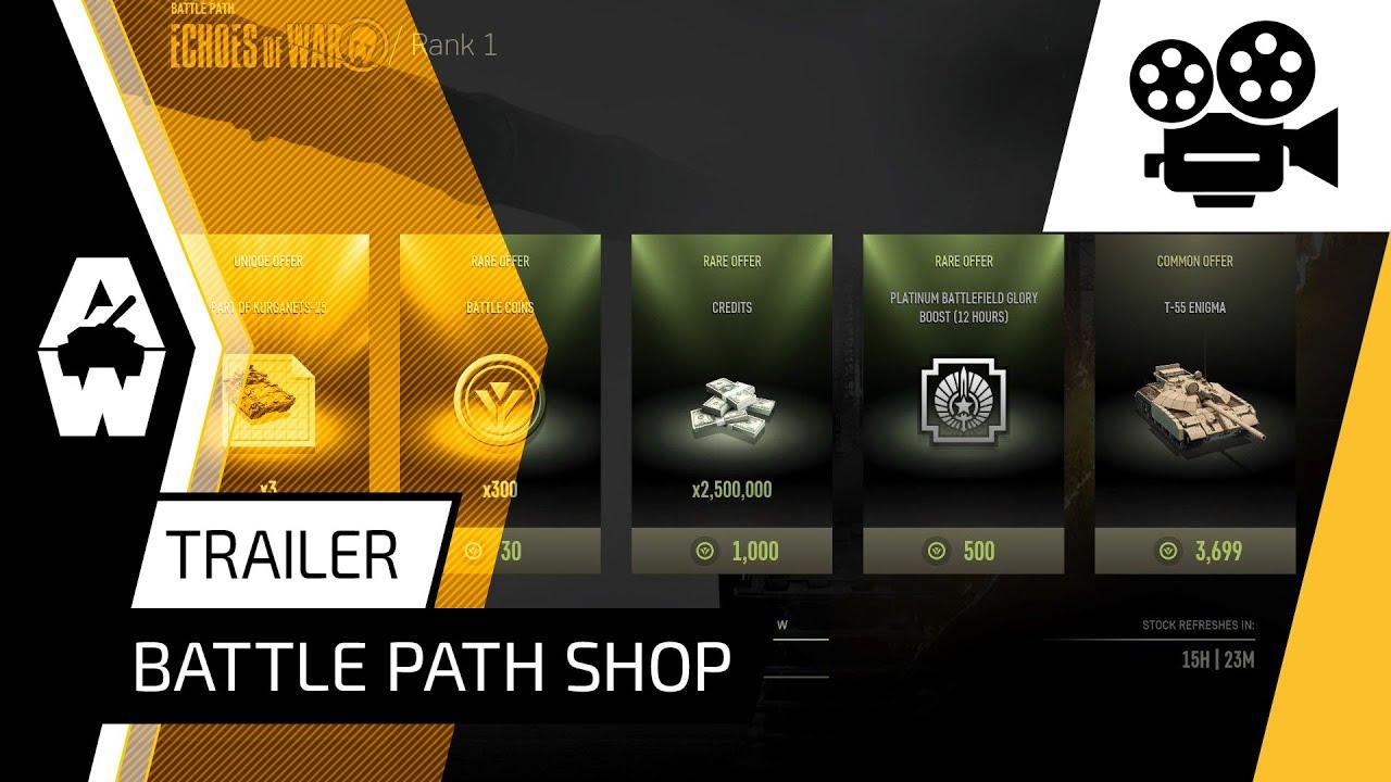 Armored Warfare - Battle Path Shop Trailer
