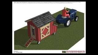 T100 - Chicken Tractor Plans - Chicken Trailer Plans Construction