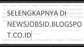 Lowongan Kerja Sekretaris BUMN PT. VIRAMA KARYA (Persero) September 2016