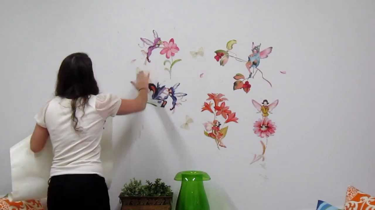 Fairies wall decals youtube amipublicfo Images