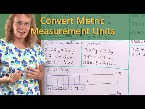 Convert Metric Units Of Measurement - Several Methods (6th Grade Math)