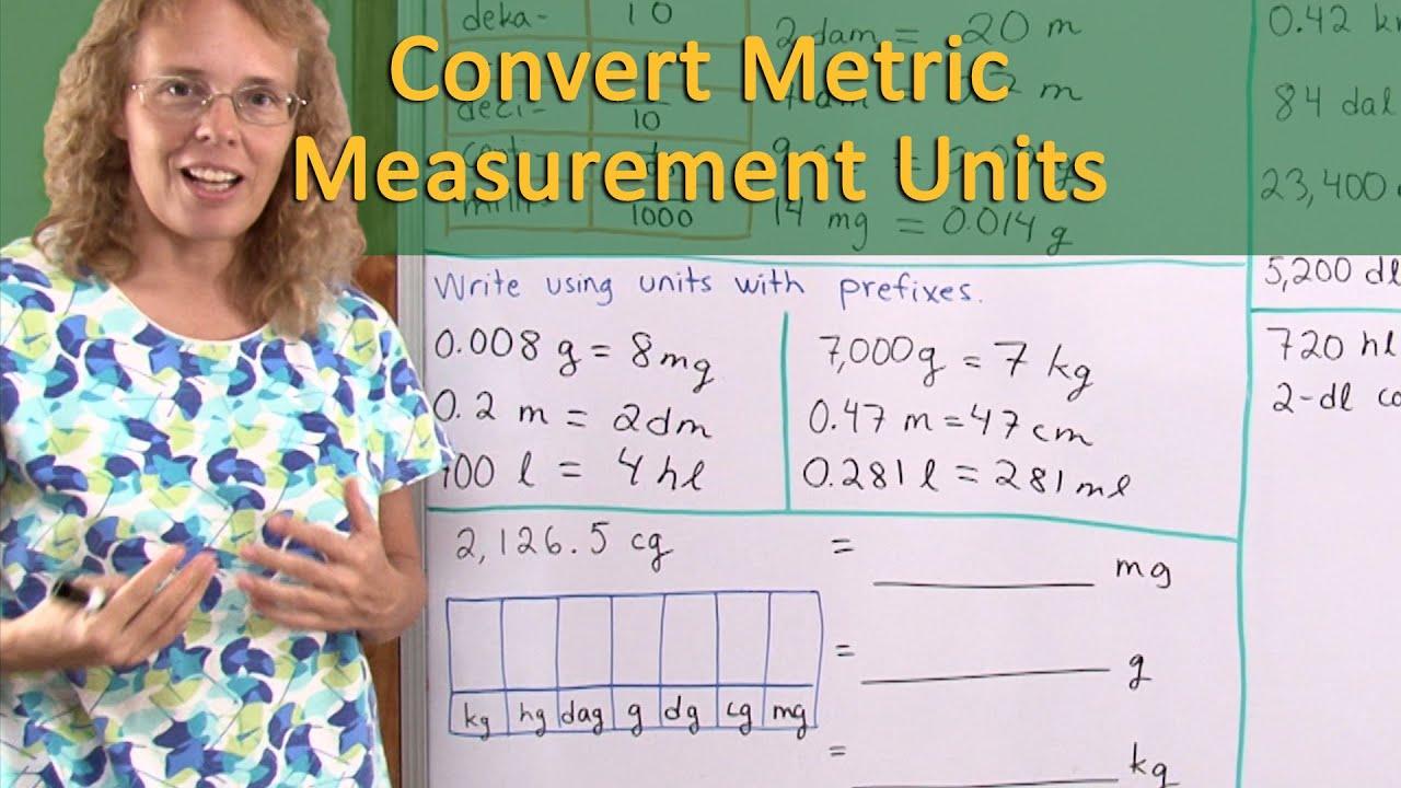 hight resolution of Convert metric units of measurement - several methods (6th grade math)