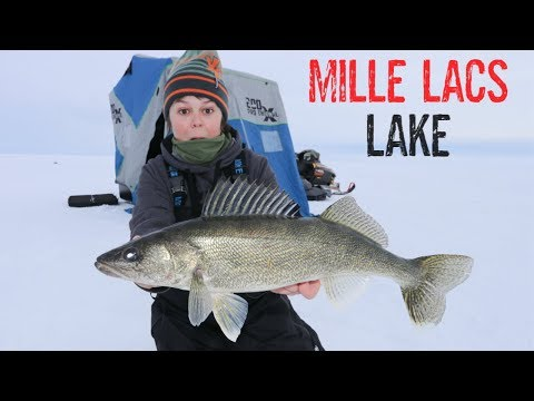 Ice Fishing And Cooking MILLE LACS LAKE (BIG WALLEYE)