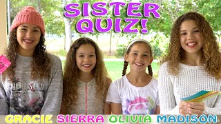 The Sister Quiz! (Haschak Sisters)