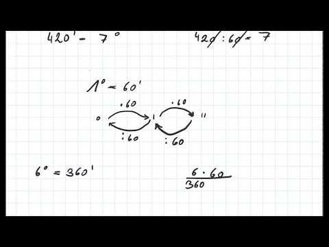 Unwandlung Grad, Minuten Und Sekunden Level 1