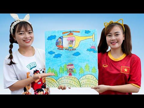 Trò Chơi Vẽ Hình Các Bạn Nhảy Dù ❤ BIBI TV ❤