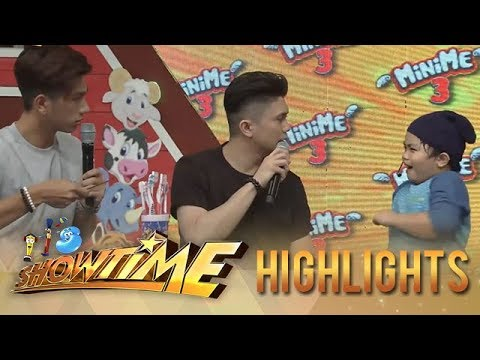 It's Showtime MiniMe 3: Ludwig teaches Vhong and Nikko the proper use of a toothbrush