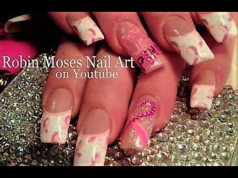 Awareness Ribbon Nail Art Diy Pink Ribbon Nail Art