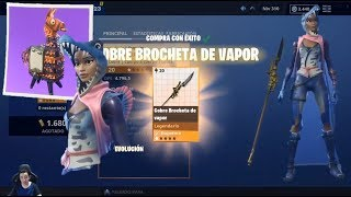 GUIA Ninja PALEO LUNA TOP + VAPOR BROCHET Ate Lanza Save the Fortnite World + 10 MILITARY FLAMES