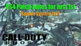 Call of Duty Ghost PlayStation 4 Patch Notes for July 1st