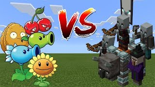 Plants vs Raid - Minecraft vs PVZ