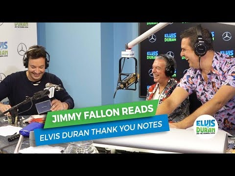 Jimmy Fallon Reads Elvis Duran Thank You Notes | Elvis Duran Exclusive