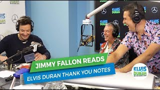 Jimmy Fallon Reads Elvis Duran Thank You Notes   Elvis Duran Exclusive