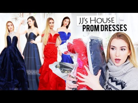 TRYING JJsHOUSE PROM DRESSES!!