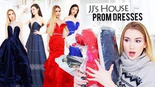 TRYING JJsHOUSE PROM DRESSES!!